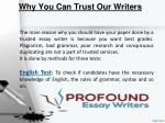 why you can trust our writers