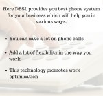 here dbsl provides you best phone system for your