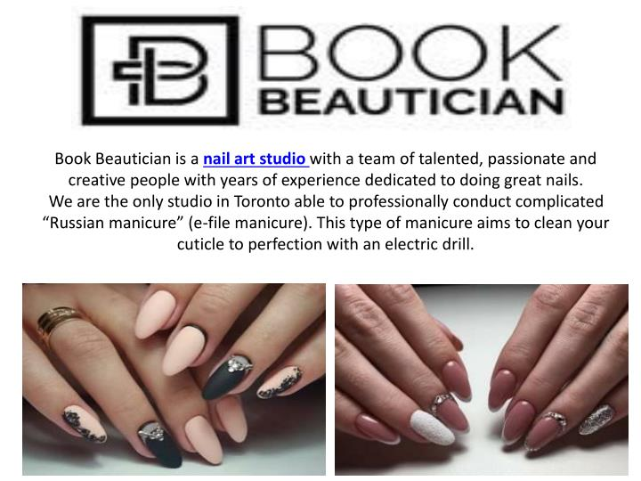 book beautician is a nail art studio with a team n.