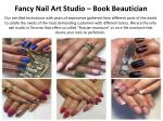 fancy nail art studio book beautician
