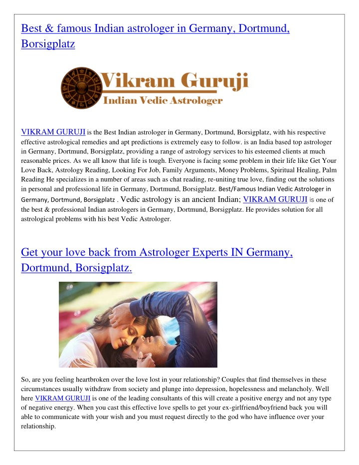 best famous indian astrologer in germany dortmund n.