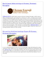 best famous indian astrologer in germany dortmund