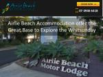 airlie beach accommodation offer the g reat base to explore the whitsunday
