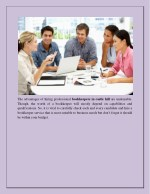 the advantages of hiring professional bookkeepers