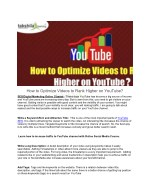 how to optimize videos to rank higher on youtube