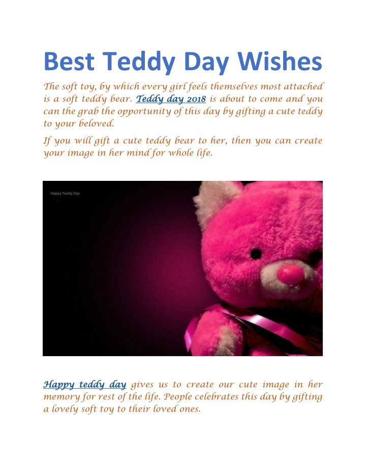 best teddy day wishes the soft toy by which every n.