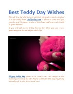 best teddy day wishes the soft toy by which every