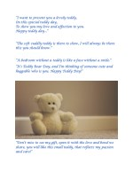 i want to present you a lovely teddy i want