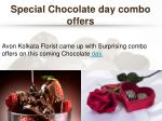 special chocolate day combo offers