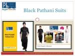 black pathani suits