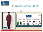 maroon pathani suits