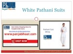 white pathani suits