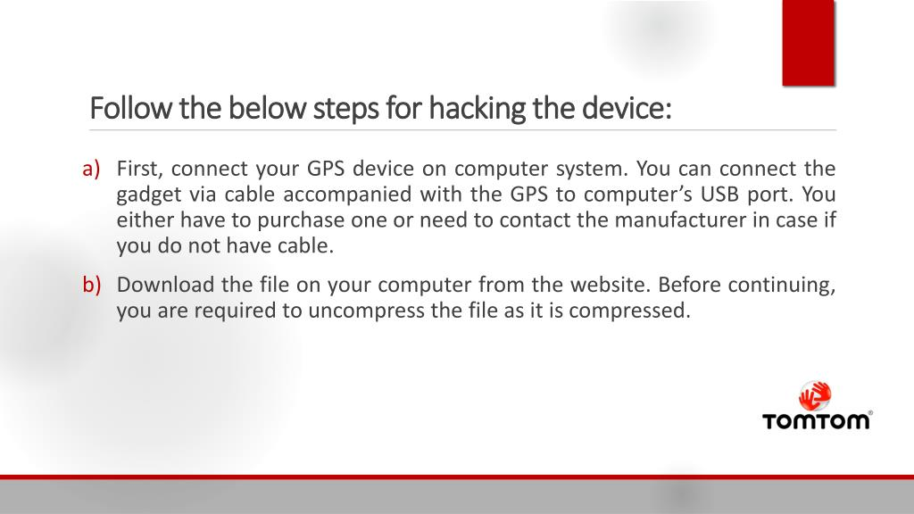 PPT - How to Hack TomTom Device? PowerPoint Presentation