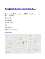 complaint review garner law llc