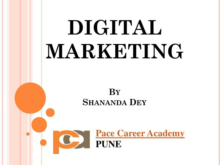 digital marketing by shananda dey n.