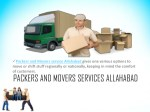 packers and movers service allahabad gives