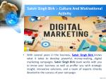 satvir singh birk culture and motivational activity