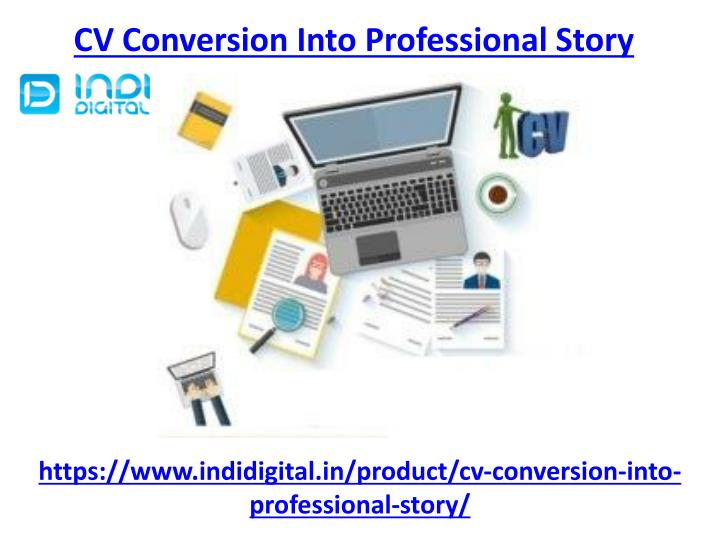 cv conversion into professional story n.