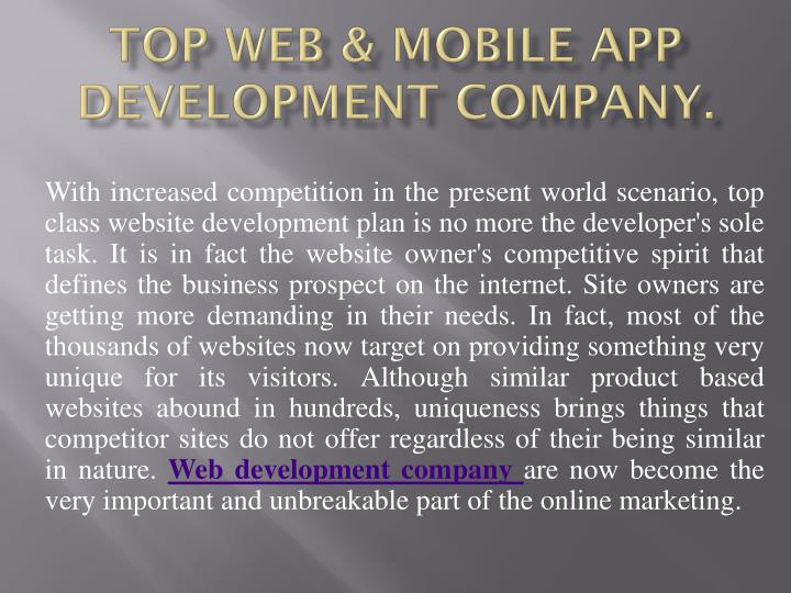 top web mobile app development company n.
