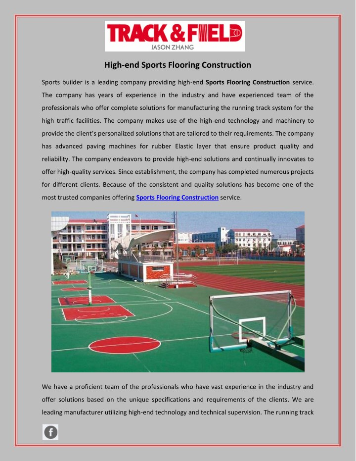 high end sports flooring construction n.