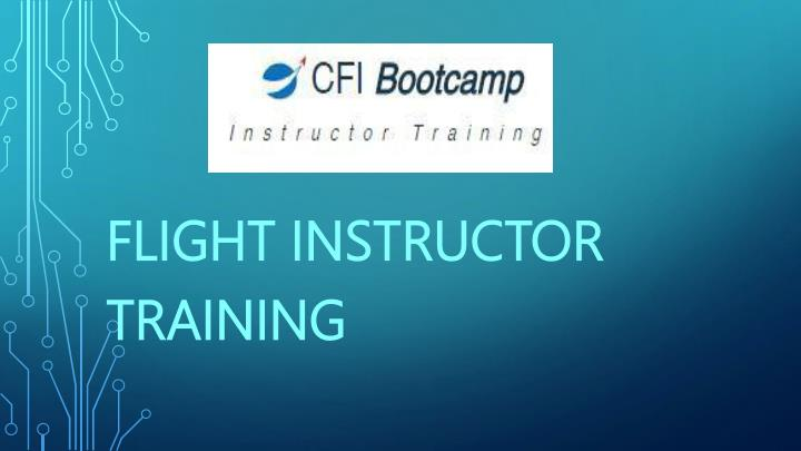 flight instructor training n.