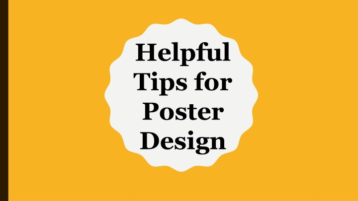 helpful tips for poster design n.