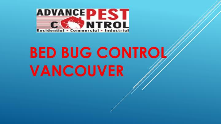 bed bug control vancouver n.