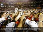 the tampa bay buccaneers celebrate with the vince