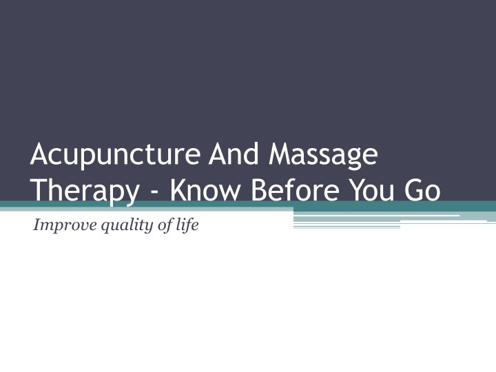 acupuncture and massage therapy know before n.