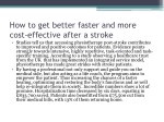 how to get better faster and more cost effective