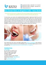 best dental clinic in bangalore india axiss dental