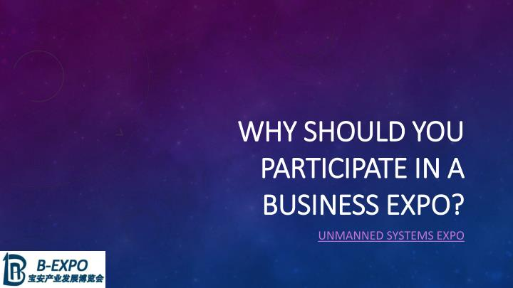 why should you participate in a business expo n.