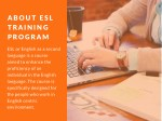 about esl training program