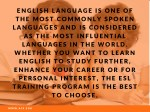 english language is one of the most commonly