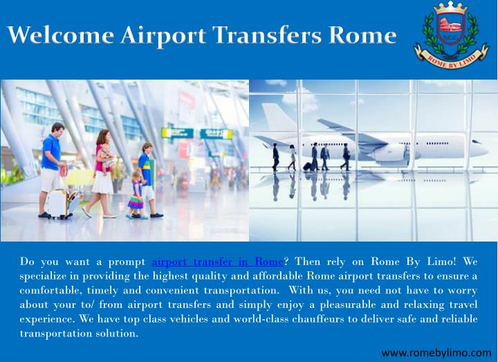 welcome airport transfers rome n.