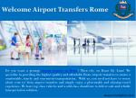 welcome airport transfers rome