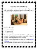 treat back pain with massage treat back pain with