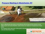 pressure washing in w estchester ny