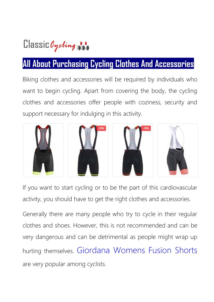 all about purchasing cycling clothes n.