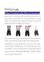 all about purchasing cycling clothes