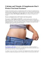 calcium and vitamin d supplements don t protect