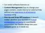 car rental software features as content