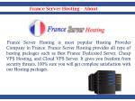france server hosting about