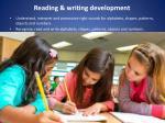 reading writing development