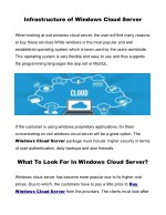 infrastructure of windows cloud server
