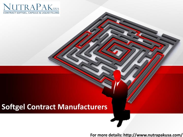 softgel contract manufacturers n.
