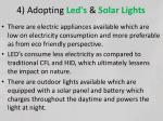 4 adopting led s solar lights
