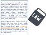 personal injury laws may differ in many areas