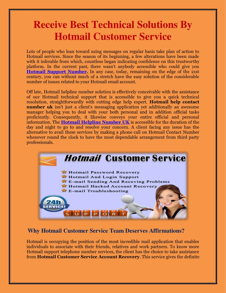 receive best technical solutions by hotmail n.