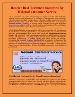 receive best technical solutions by hotmail